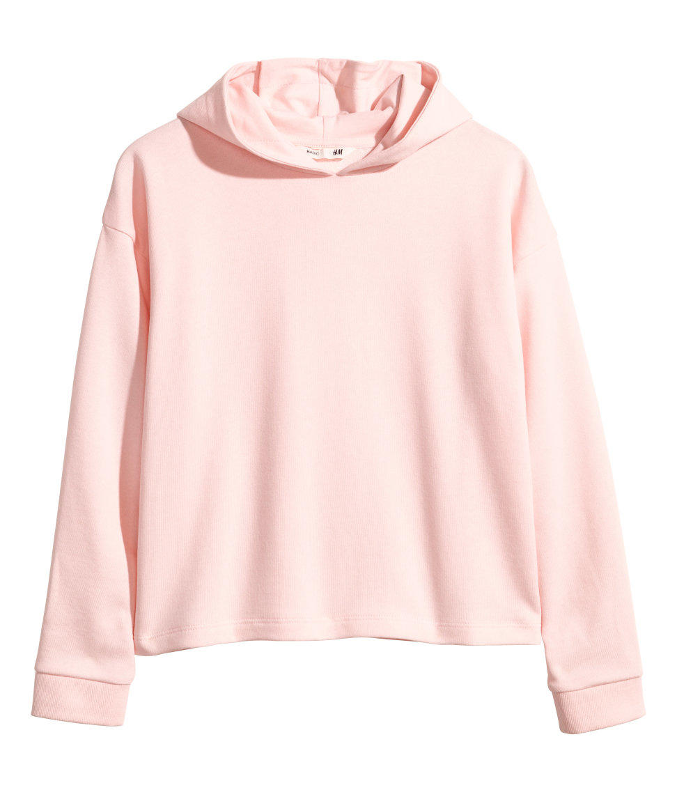 H&m Hooded Top Light Pink