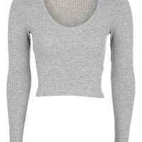 Long Sleeve Choker Top - Tops - Clothing