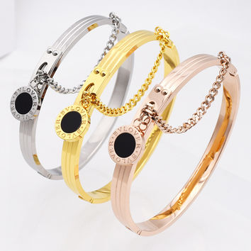 Hot Sell Women Wedding Bracelet Brand Luxury Love Bangles & Bracelets For Women Romantic Letter Bracelet For Valentines Gift