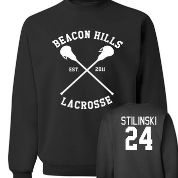 BEACON HILLS LACROSSE sweatshirt 2016 new autumn winter Wolf Stiles Stilinski 24 hoodies men streetwear hip hop  clothing