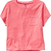 Old Navy Girls Boxy Pocket Tees