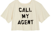 Call My Agent Tee - Cream