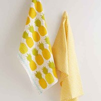 Pineapple Tea Towel Set- Yellow One