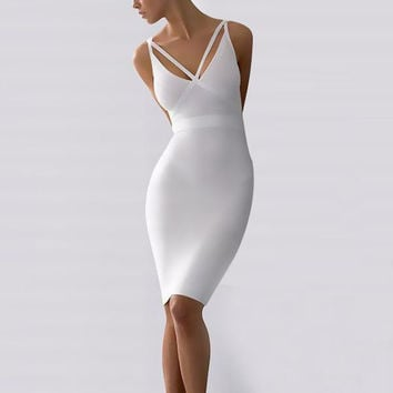 White Bandages Sexy Prom Dress [4919114372]