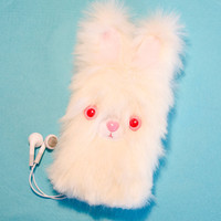 The ALBINO BLIP BUNNY - Kawaii iPhone 4, iPhone 5, iPod Touch Case Sleeve