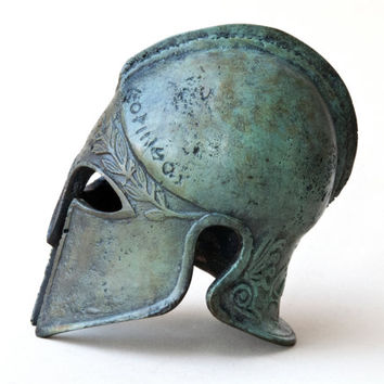Bronze Metal Helmet, Ancient Greek Corinthian Helmet, War Helmet, Bronze Metal Sculpture, Museum Art Replica, Greek Art Decor, Unique Gift
