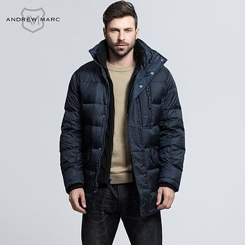 ANDREW MARC 2016 New Fashion Men Duck Down Coat Autumn Winter Big Brand Outwear Coats Snow Parkas TM6UD211