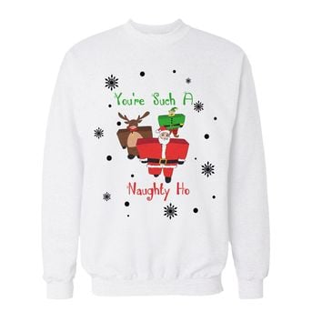 You're Such A Naughty Ho Christmas Sweater Holiday Party Outfit Ugly Christmas Sweater