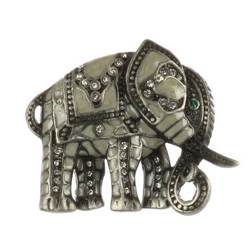 Mulit Color Epoxy Coated Metal Elephant Pin And Brooch