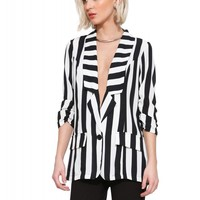 Kourtney K Stripe Blazer