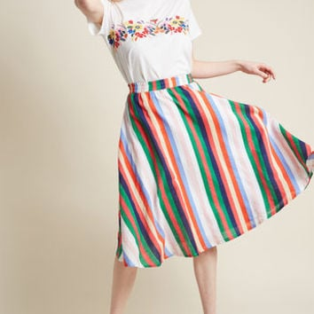Compania Fantastica Enthusiasm on Exhibit Cotton Skirt