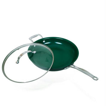 Orgreenic 12 inch Large Fry Pan with Lid