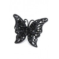Butterfly Ring - Black - Madame Chocolat