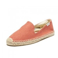 Smoking Slipper Twill - Sky Blue Espadrilles for Women from Soludos - Soludos Espadrilles