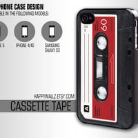 Cassette Tape Iphone Case Iphone 4 case Hipster Iphone 5 case Iphone 4s case Samsung Galaxy S3 Case