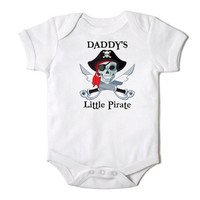Daddy's Little Pirate Funny Onesuit Bodysuit