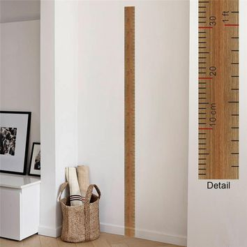 Ruler Height Measure Wall Stickers For Nursery Kids Rooms Decoration Children's Home Decor Growth Chart Poster Mural Wall Decals