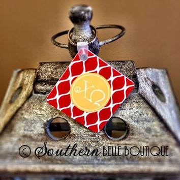 Personalized Key Chain CHI OMEGA  Offically Licensed by rrpage