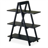 Basics 38-inch H -inch A-inch Frame Shelf in Black