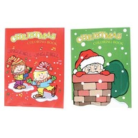 ~ 12 ~ Christmas Coloring Books 6 Red/ 6 Green