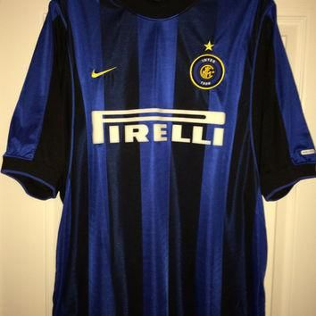 Sale!! Vintage Nike INTER MILAN Home Soccer Jersey Italy Football Shirt