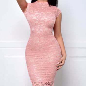 Take Me Anywhere Dusty Pink Dress