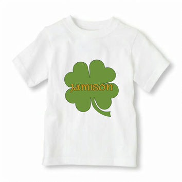 Personalized St. Patrick's Day Shirt Iron-On, Boy's St. Patrick's Day Shirt Iron-On, Monogrammed St. Patrick's Day Shirt
