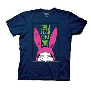 Bob's Burgers Louise I Smell Fear On You Licensed Adult T-Shirt - Navy Blue