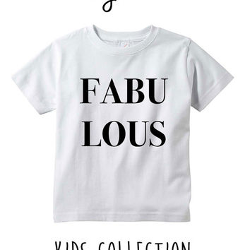 Fabulous Heather Grey / White Toddler Kids T Shirt Clothes Gift