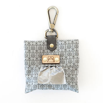 Grey Diamond Dog Poop Bag