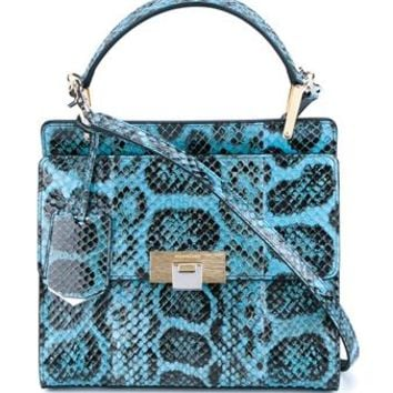 BALENCIAGA   Snakeskin Le Dix Cartable Bag   brownsfashion.com   The Finest Edit of Luxury Fashion   Clothes, Shoes, Bags and Accessories for Men & Women