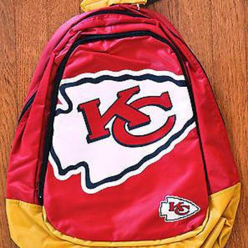 Kansas City Chiefs BackPack / Back Pack Book Bag NEW - TEAM COLORS BIG LOGO