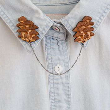 Fancy Fungi collar clips