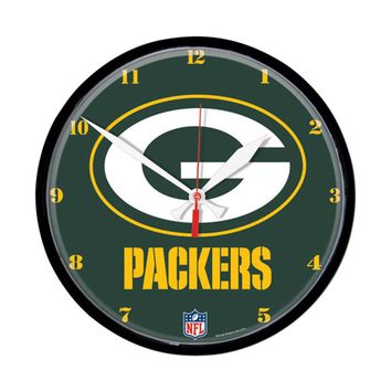 Green Bay Packers NFL Round Wall Clock