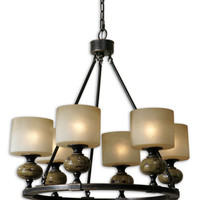 Porano 6 Light Frosted Glass Chandelier