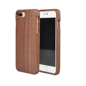 For iPhone 7 7S 7G Wood Case Real Handmade Hard Bamboo Cover Nature Rose Wooden Phone Cases NEWOER