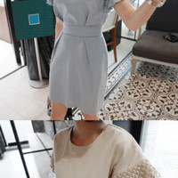 Layered Butterfly Sleeves Dress - Miamasvin loves u! Womens Clothing. Korean Fashion.