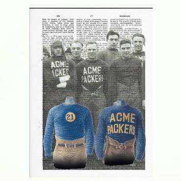 Vintage Dictionary Acme Packers Dictionary Art Print