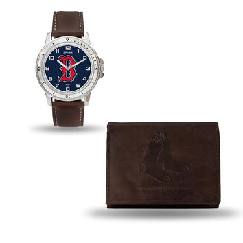Boston Red Sox MLB Watch and Wallet Set (Niles Watch)