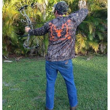 Camo Bow Hunter Performance Long Sleeve Shirt