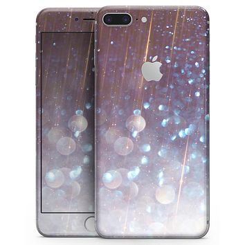Radient Orbs of Blue with Streaks  - Skin-kit for the iPhone 8 or 8 Plus