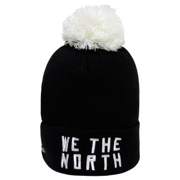 Real Sports Apparel • Raptors Adidas Youth 'We the North' Cuffed Pom Toque