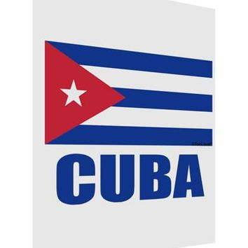 Cuba Flag Cuban Pride Matte Poster Print Portrait - Choose Size by TooLoud