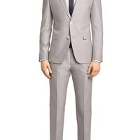 'Aeron/Hamen' | Slim Fit, Virgin Wool and Silk Suit by HUGO