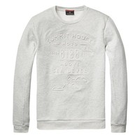 Emboss White Grey Sweatshirt by Scotch & Soda