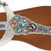 Steve Madden J Chiara Fisherman Sandal (Little Kid/Big Kid),Silver,5 M US Big Kid