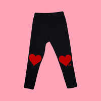 Hello Merch — New Hearts (Babies & Kids) Black Leggings
