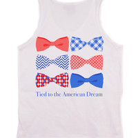 'Tied to the American Dream' Preppy Tank Top