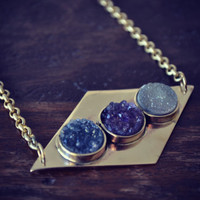 MOONS Of PLUTO Handcrafted Druzy Necklace