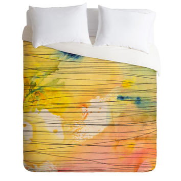 Susanne Kasielke Stripy Collage Duvet Cover